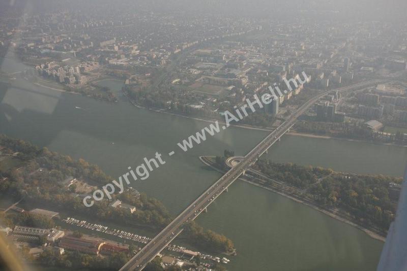 2008 október Bp. városnézés/köd-pára rossz látás: Árpád hid