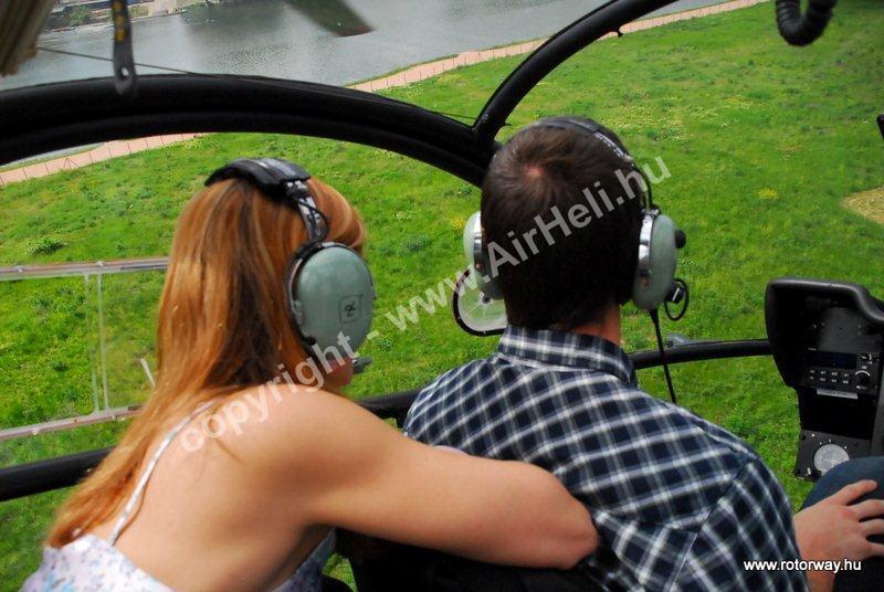 Helikopteres városnézés, 2010. május Ajándék utalvány: prestige heliport