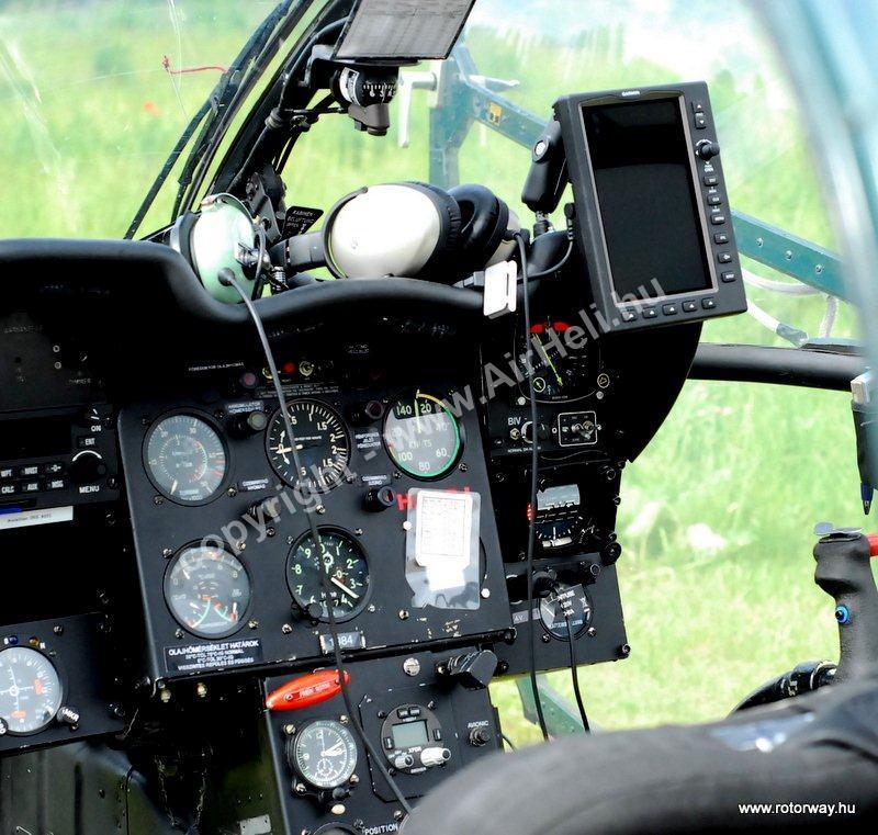 Helikopteres városnézés, 2010. május Ajándék utalvány: alouette cockpit