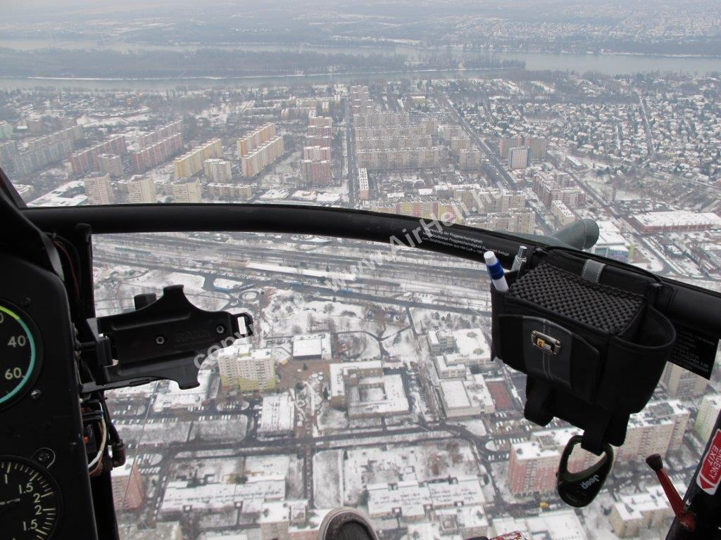 Budapest winter scenic flight, december 2014: