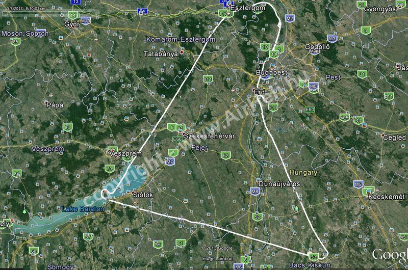 Diamond DA40 körút, 2013. augusztus: