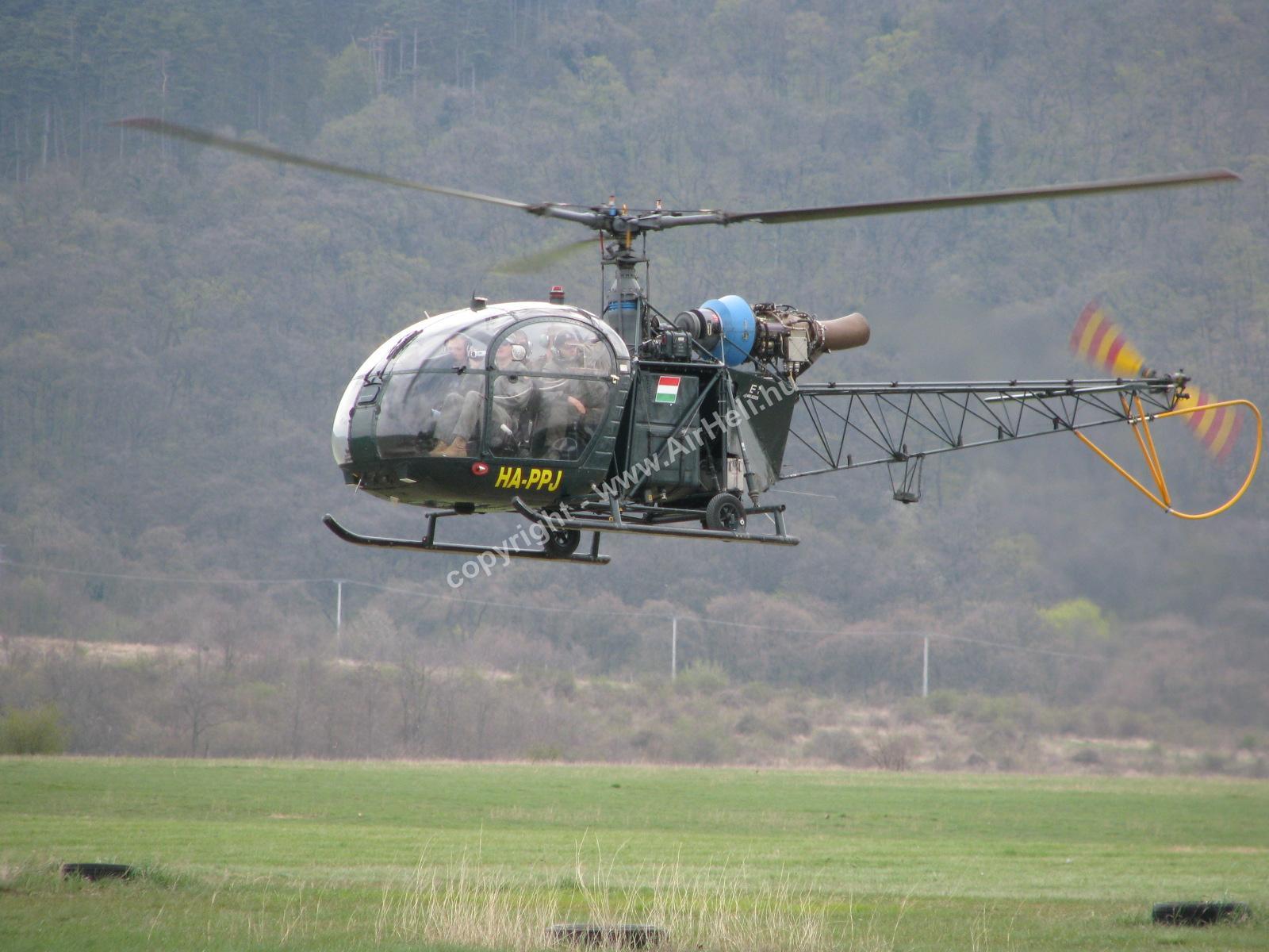 Szombati szülinapi repülés, 2010. április: Helicopter Alouette II