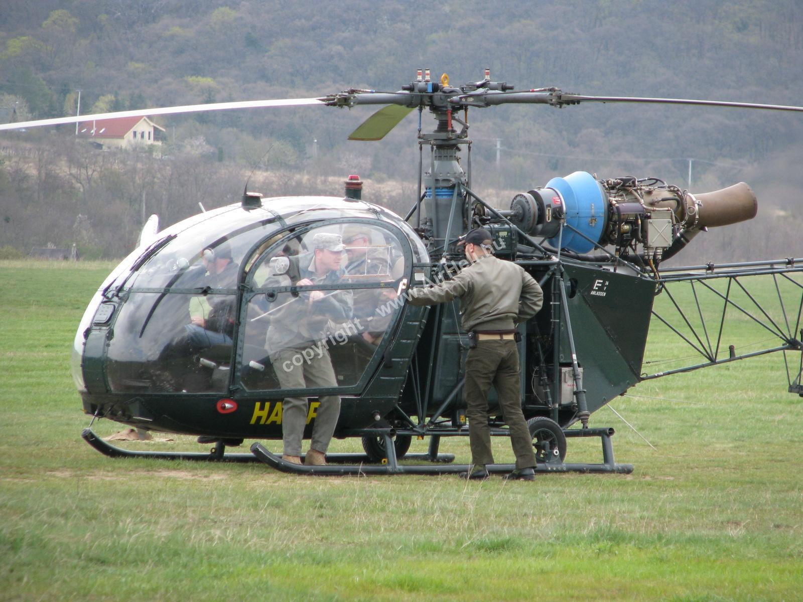 Szombati szülinapi repülés, 2010. április: Helikopter Alouette II