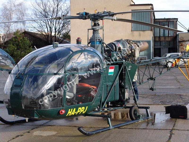 2008. december - Szentkirály: Alouette II SA318C
