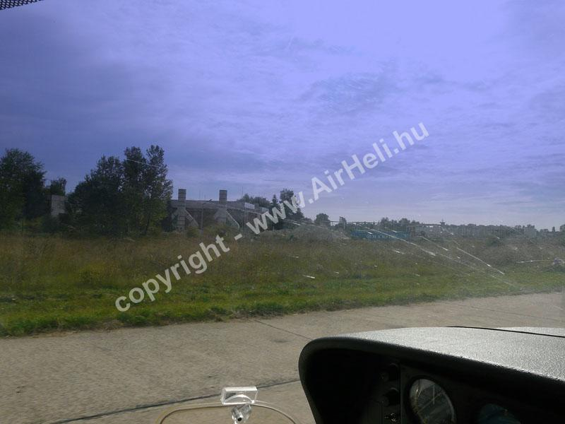 2008.09.14. Visegrád: A reptér a gépből